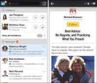 LinkedIn actualiza su aplicación para Android y experimenta con publicidad