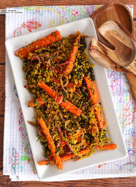 Ensalada De Quinoa Y Cúrcuma Con Zanahorias En Escabeche Receta Saludable