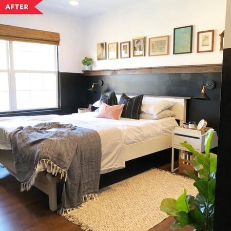 Antes y después: un dormitorio con zona de teletrabajo en el antiguo armario empotrado