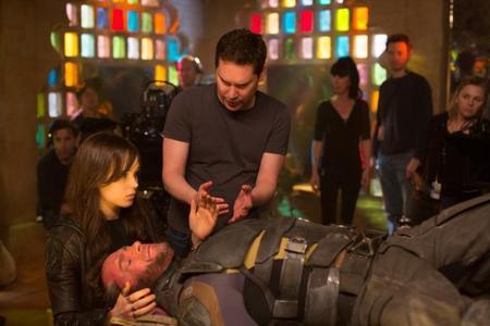 Bryan Singer en el set de rodaje