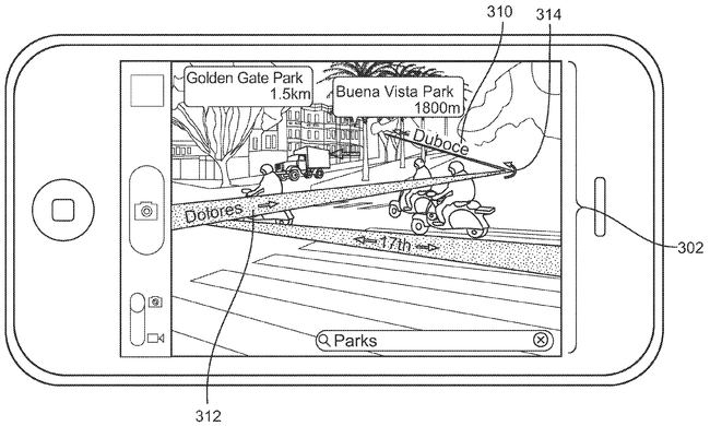 Apple Patent Augmented Reality Maps Drawing 001