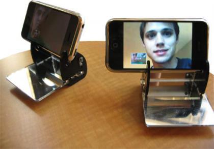Videollamada con el iPhone... y un periscopio de espejos