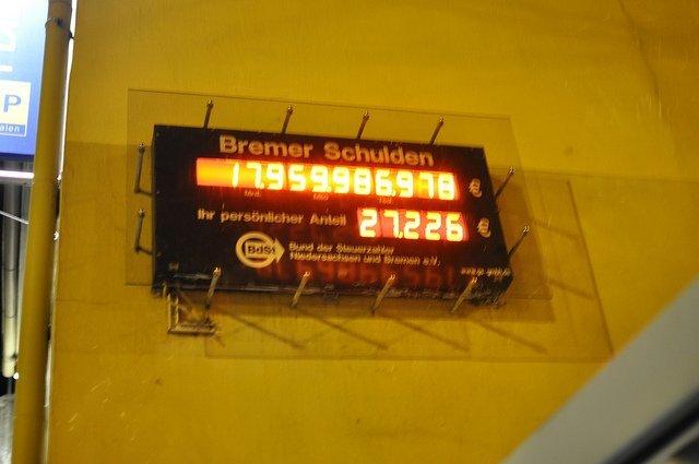 reloj deuda alemana