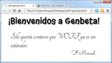 Web Open Font Format (WOFF) convertido en estándar