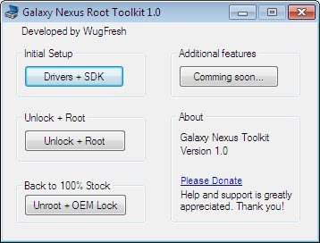 Galaxy Nexus Root Toolkit