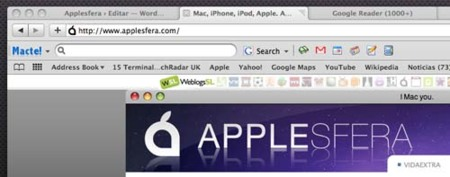 Macte! barra de herramientas para Safari