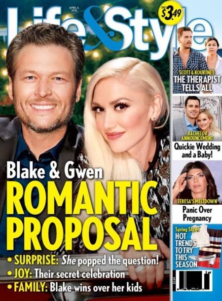 Gwen y Blake, camino del altar