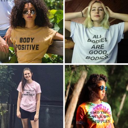 camiseta activista mensaje shopping feminismo