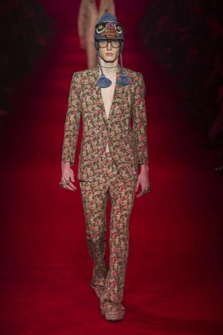Entre bordados y prints geométricos nos llega la colección de invierno de Gucci