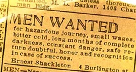 ¿Responderías a este anuncio en el periódico para viajar a lo desconocido?