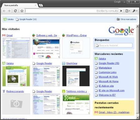Google Chrome tema