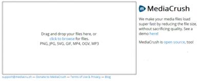 MediaCrush, almacenamiento y conversión automática de contenido multimedia