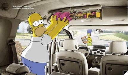 Anuncios de la Renault Kangoo protagonizados por Los Simpsons