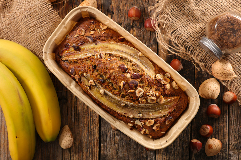 Pan de plátano fitness: receta saludable
