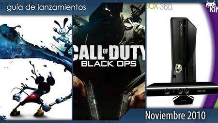 Guía de lanzamientos: noviembre de 2010