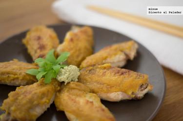 Receta de alitas de pollo con wasabi