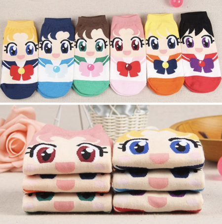Calcetines de dibujos animados de Sailor Moon