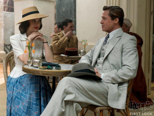 Allied Marion Cotillrd Brad Pitt