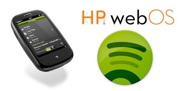 spotify disponible para palm webos