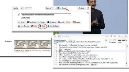 Novedades en YouTube: Subtítulos interactivos, autocompartir a Buzz y más