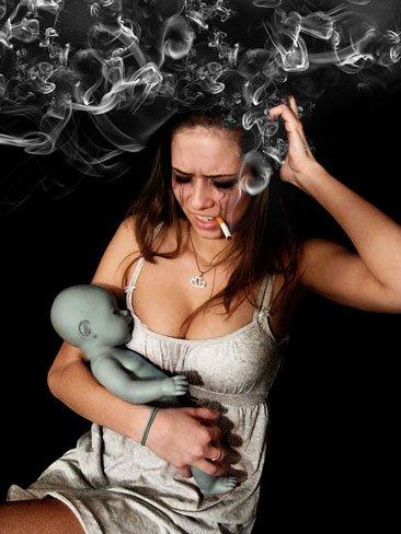 Los beneficios de fumar hierba durante el embarazo -