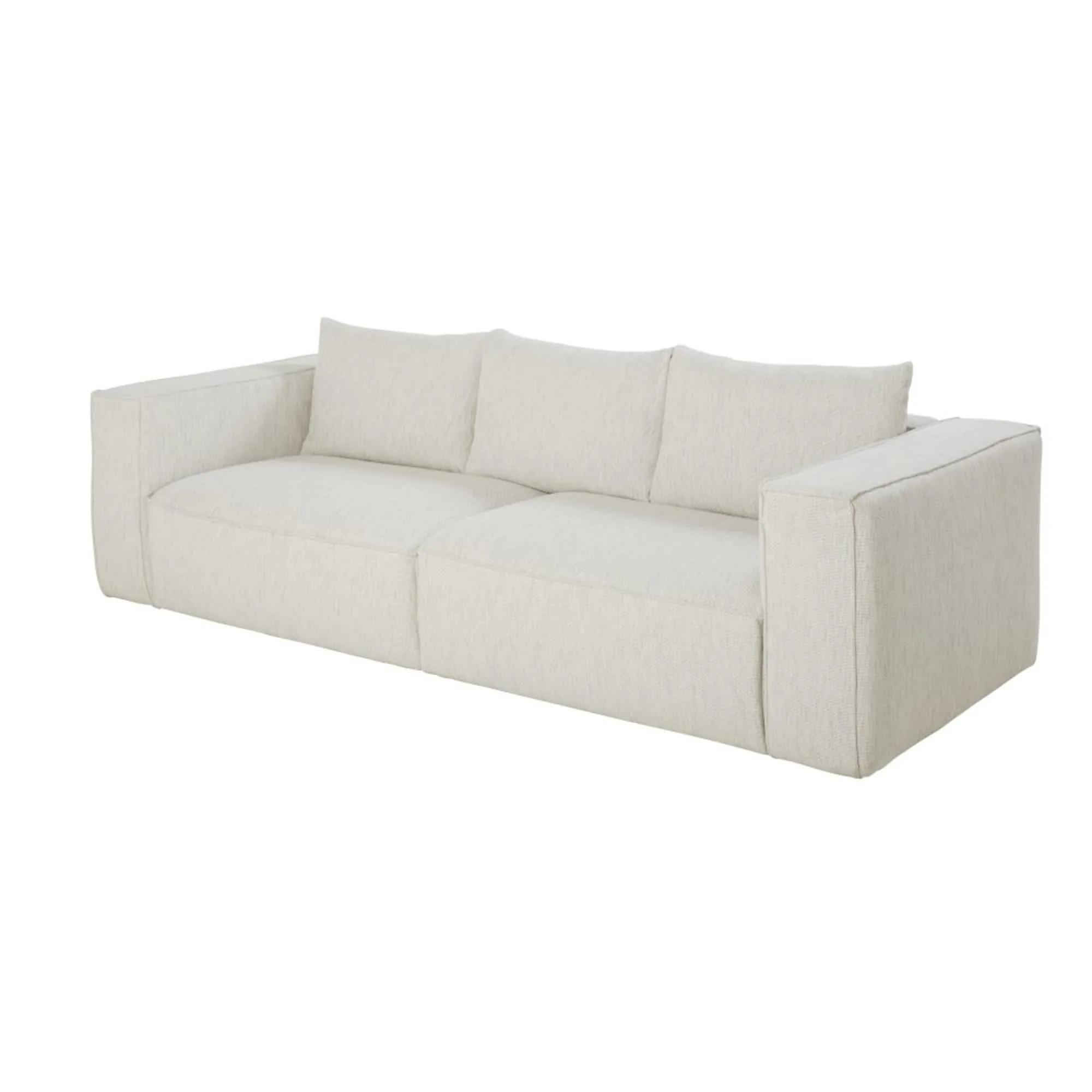 FALKOR- Sofá de 3 plazas ecodiseñado gris claro jaspeado