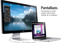 LED Cinema Display de 27 pulgadas, el pantallazo de Apple