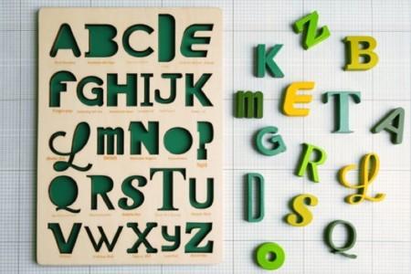Si quieres que tu hijo aprenda tipografías desde pequeño... ¡necesitas este puzzle!