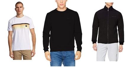 Chollos en tallas sueltas de camisetas y sudaderas Quiksilver, Pepe Jeans o Jack & Jones en Amazon