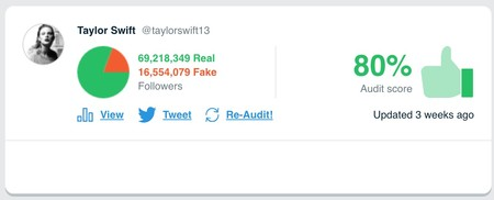 Window Y Taylorswift13 S Audit Twitter Audit Audit Your Twitter Followers