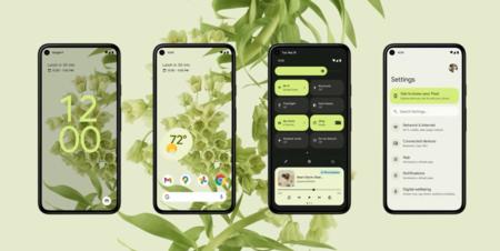 Android 12 construye un patrón de color en base a la foto del escritorio