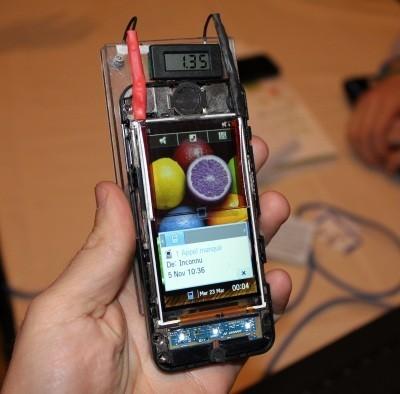 carga solar pantalla movil