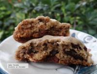 Receta galletas para golosos con trocitos de chocolates y macadamia garapiñada