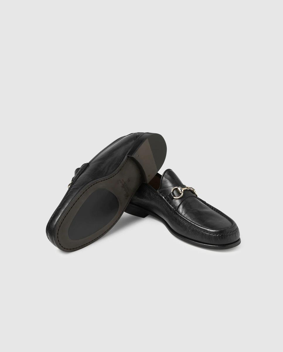 Mocasines de hombre Castellano de napa en color negro