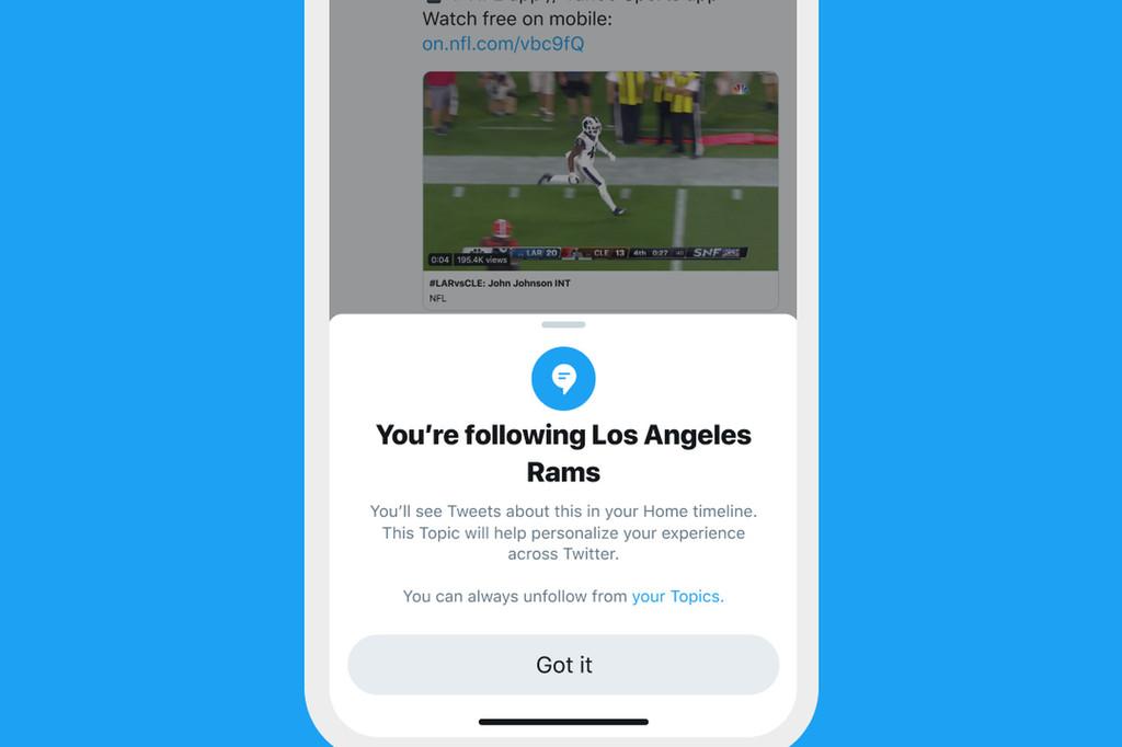 La app de Twitter está desplegando 'Topics', una nueva característica para seguir intereses y no sólo a usuarios