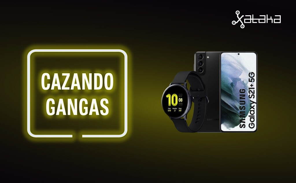 Chollo pack Samsung Galaxy S21 Plus con reloj Galaxy Watch Active 2, Chromecast con Google TV más barato y más ofertas: Cazando Gangas