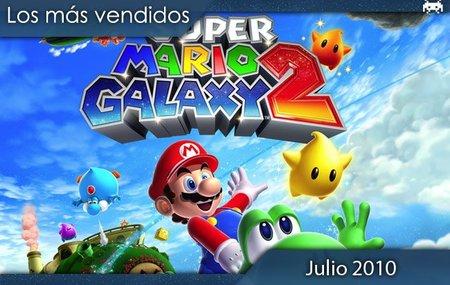Los juegos más vendidos en España. Julio 2010.