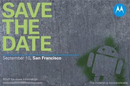 Motorola confirma que lanzará terminales con Android en septiembre