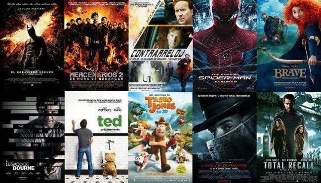 Carteles de estrenos del verano de 2012