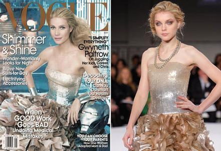 Vogue mayo 2008: Gwyneth Paltrow y... ¡Iron man!
