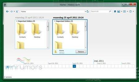 """Primeras imágenes de History Vault, el """"Time Machine"""" de Windows 8"""