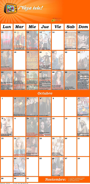 Foto de Calendario de Otoño 2012 (1/2)