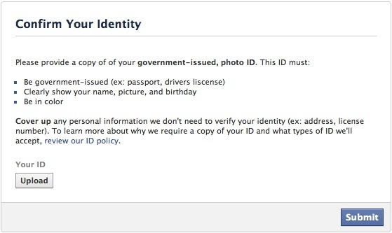 facebook identity