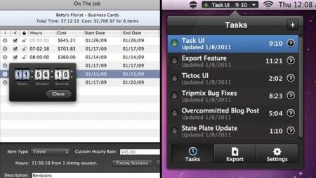 Controla el tiempo que gastas en tus tareas, aplicaciones para Mac OS X