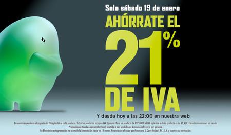 Comienza la cuenta atrás: Ahórrate el 21% de IVA durante 24 horas en El Corte Inglés