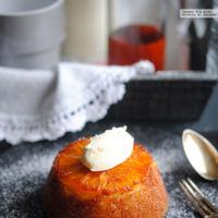 Receta de cake individual de naranja y caramelo. Una idea para San Valentín