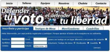 Defiendetuvoto.com: una web para que los ciudadanos vigilen las elecciones venezolanas