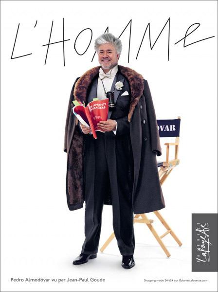 Pedro Almodóvar, el nuevo rostro de las Galeries Lafayette Homme