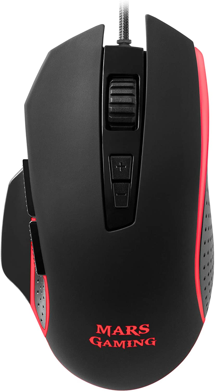 Mars Gaming MM018 - Ratón para PC, 4800 DPI, respiración RGB, 8 botones programables