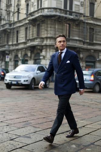 Looks de calle en la Semana de la Moda de Milán, chaqueta